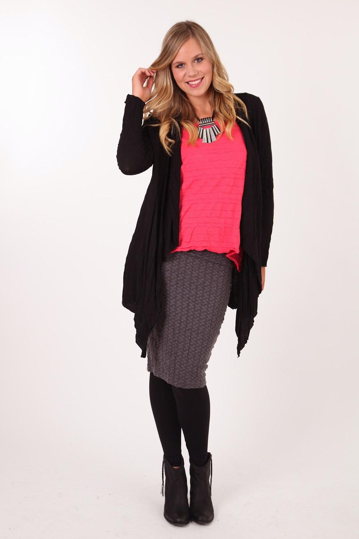Metalicus clothing Anya Tube Skirt - Womens Knee Length
