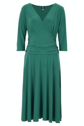 Y V Neck Long Sleeve Dress