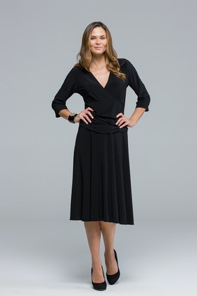 Y V Neck Long Sleeve Dress
