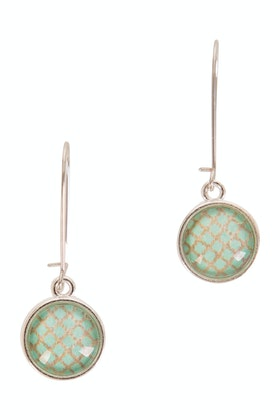 Nest Of Pambula Aqua On Beech Drop Earring