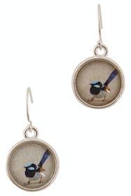 Blue Wren Drop Earrings