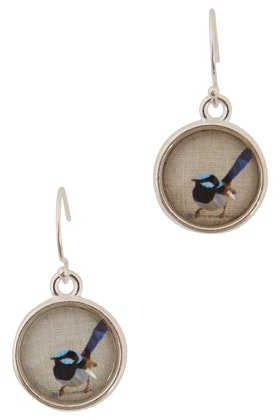 Nest Of Pambula Blue Wren Drop Earrings