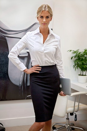 bird keepers The Ponte Knee Length Pencil Skirt