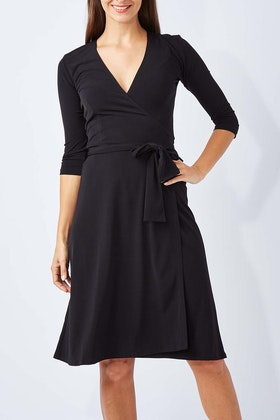 Rebecca Ruby 3/4 Sleeve Essential Little Black Dress