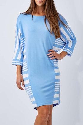 See Saw Stripe Batwing Dress