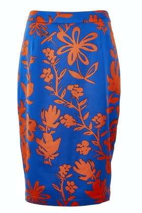 OJAY Saturated Floral Pencil Skirt