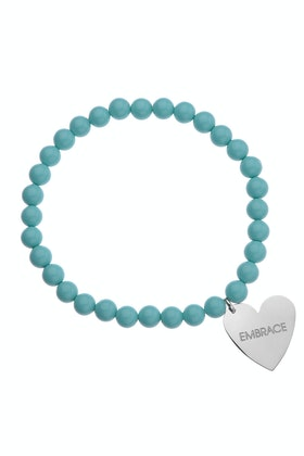 Embrace Beaded Heart Embracelet