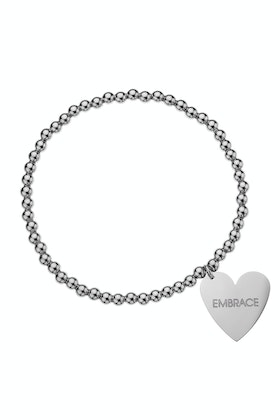 Embrace 4mm Ball Heart Embracelet