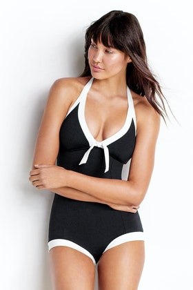 Seafolly Block Party Boyleg Maillot