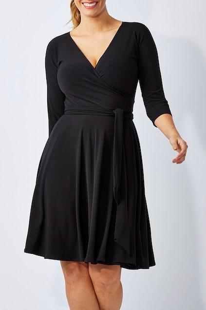 30fbc8f5b4 Sacha Drake Reverse Wrap Full Skirt Dress - Womens Knee Length ...