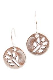 Sterling Silver Tree Disc Drop Earrings