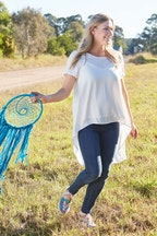 boho bird Walking On Clouds Tee