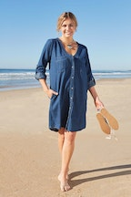 boho bird Denim Love Dress