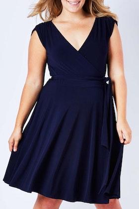 Sacha Drake Wrap Cap Sleeve Dress