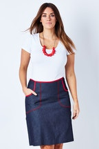 Essaye Denim Pocket Skirt