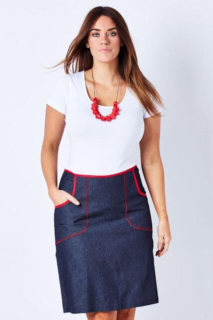 ab7d02bbd6d75 Essaye Denim Pocket Skirt - Womens Knee Length Skirts - Birdsnest Clothing  Online