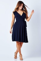 Sacha Drake Wrap Cap Sleeve Dress