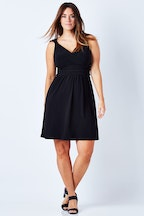 Y Sleeveless Waistline Dress
