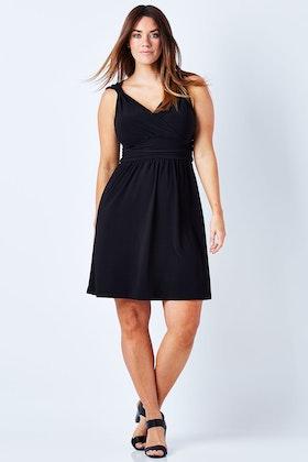Y Sleeveless Waistline Dress
