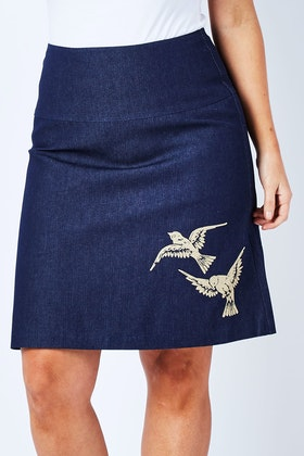 Essaye 2 Birds Denim Skirt
