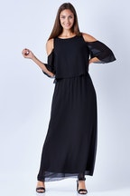 bird keepers The Cut Out Shoulder Maxi Dress