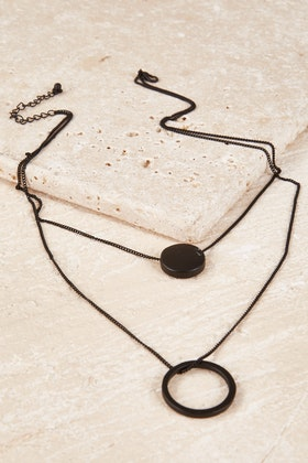 365 Days Hoop Disc 2 Strand Necklace