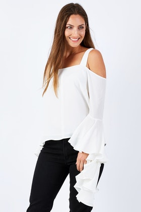 OJAY Kristina Ruffle Sleeve Top