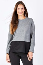 Marco Polo Woven Panel Contrast Knit
