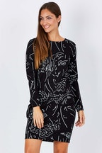 Layer'd Print Gyda Ponti Dress