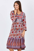 Nest Picks 70s Bagru Midi Dress