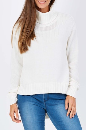Imonni Roll Neck Split Me Side Ways Knit