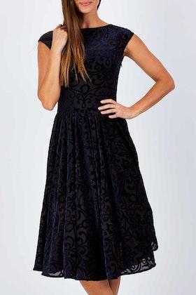 Very Very Laura Cap Sleeve Full Circle Dress