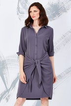 bird by design The Tie Front Shirt Dress