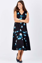 that bird label Holly A-line Dress Water Lilies