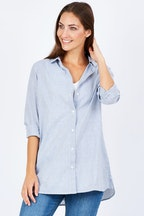 bird keepers The Stripe Button Through Shirt