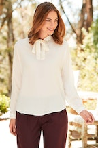 bird keepers The Neck Tie Blouse