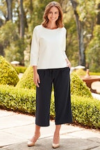 bird keepers The Wide Leg Cropped Trouser