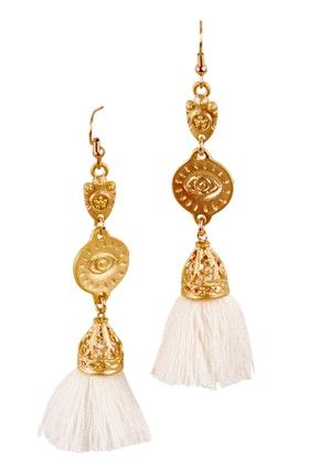 Isle & Tribe Ishtar Tassel Earrings