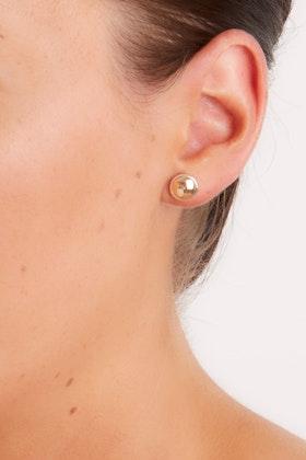 Najo Rosy Glimmer Sterling Silver Stud Earrings