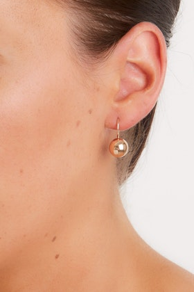 Najo Rose Gold 10mm Ball Earrings