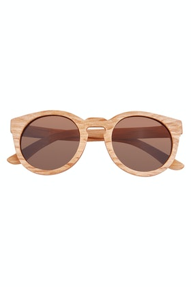 Rare Rabbit Honey Wood Sunglasses