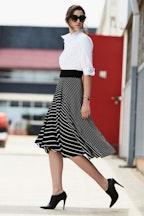 Sacha Drake Faux Wrap Skirt