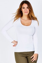 Betty Basics Madonna L/S Scoop Top