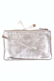 Mighty Purse Rechargable Wristlet Leather Clutch