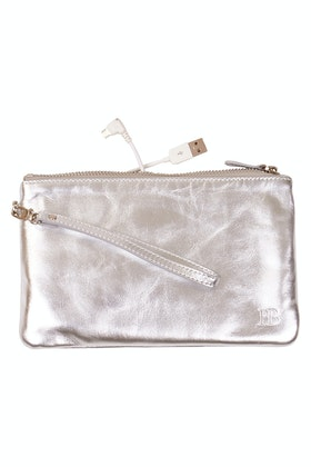 Handbag Butler Mighty Purse Rechargable Wristlet Leather Clutch
