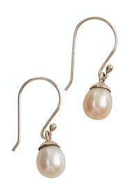 Single Pearl Hook Earrings