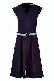 Fit & Flare Belted Dress
