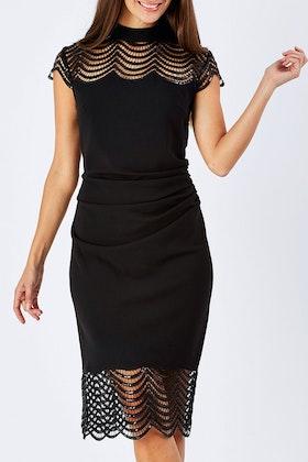 Mei Mei Scalloped Sequined Dress