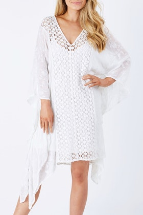 Hammock & Vine Lace Overlay Shift Dress