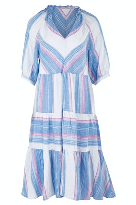 Hammock & Vine Chevron Linen Dress